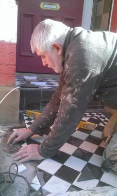 Vadim doing Victorian Tiling